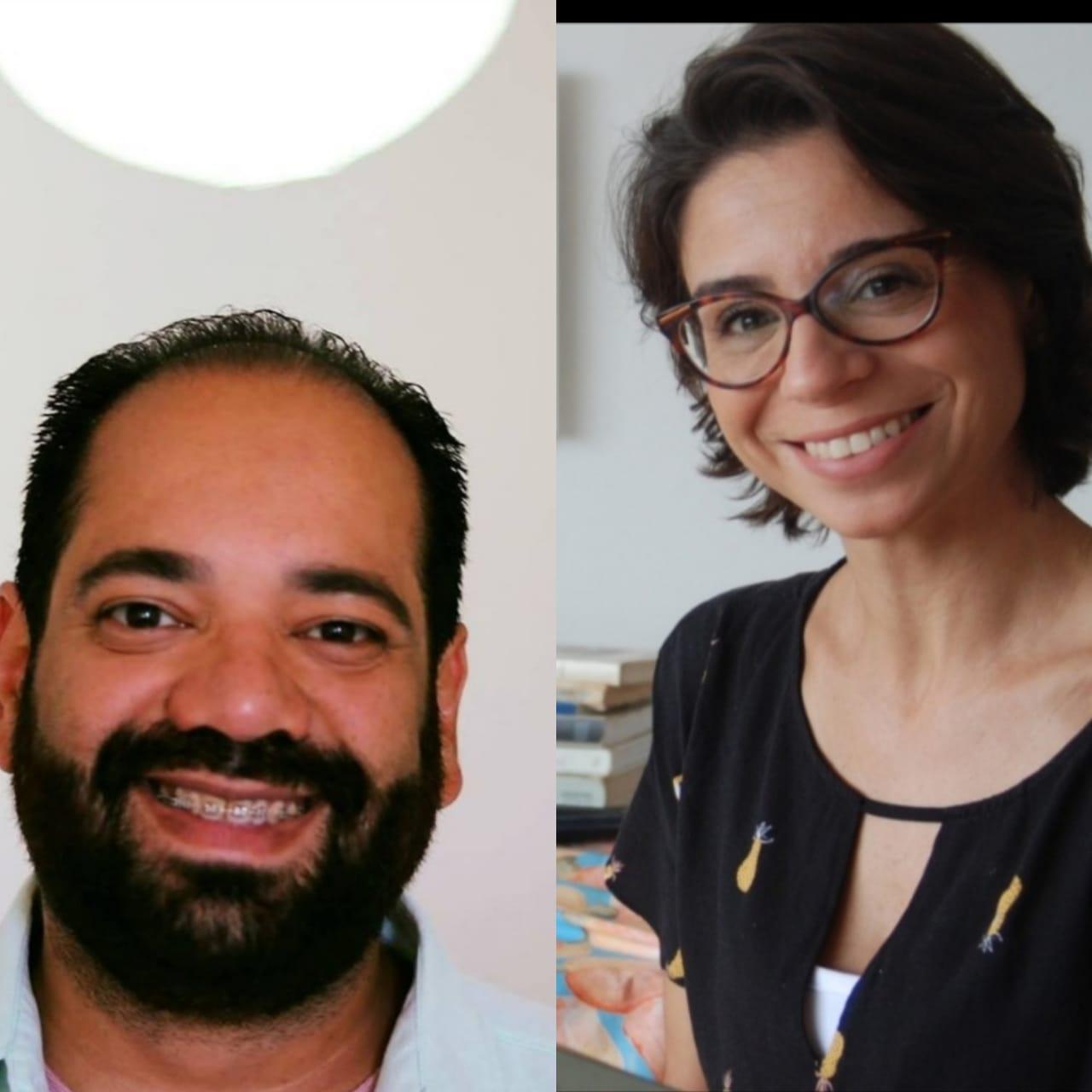 Marcelo Santos e Juliana Dias