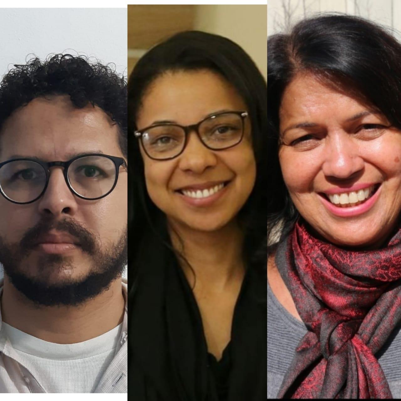 Elton Rodrigues, Jemima Bispo e Magali Cunha