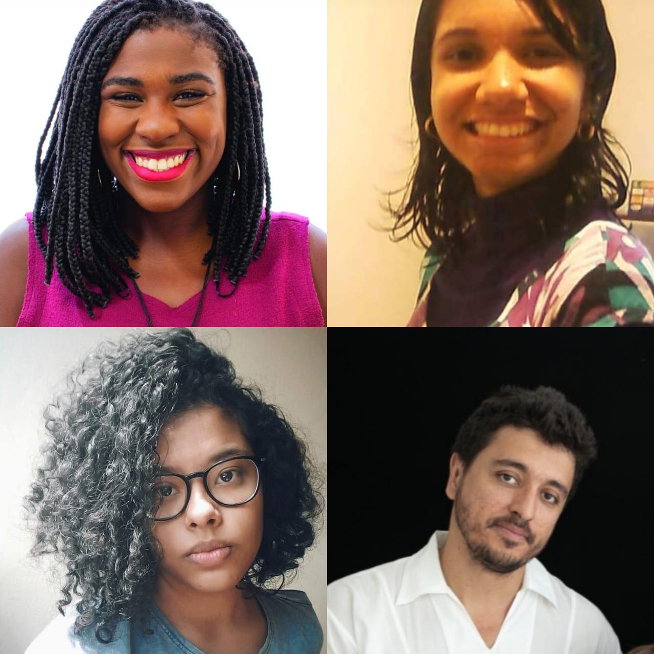 Stephanie Costa, Naira Diniz, Daniel Reis e Luciana Petersen