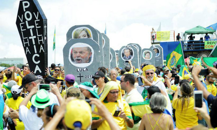 Protesto pró-impeachment de DIlma Rousseff. Foto: Bruno Peres/Esp CB